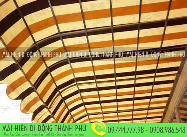 Chất liệu của mái vòm cố định được làm từ những kim loại vật liệu, có chất liệu tốt.
