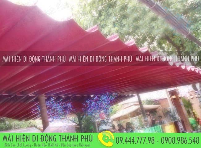 mai xep di dong nha hang 1 Mẫu mái xếp nhà hàng, mái xếp quán cafe mái xếp Thành Phú