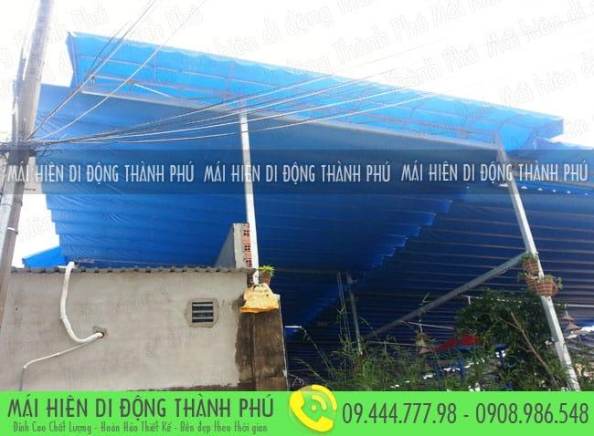 mai xep di dong nha hang 11 Mẫu mái xếp nhà hàng, mái xếp quán cafe mái xếp Thành Phú