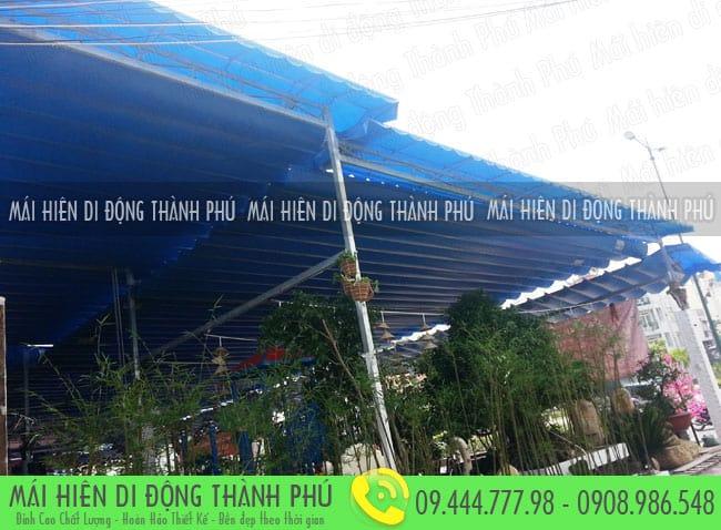 mai xep di dong nha hang 12 Mẫu mái xếp nhà hàng, mái xếp quán cafe mái xếp Thành Phú