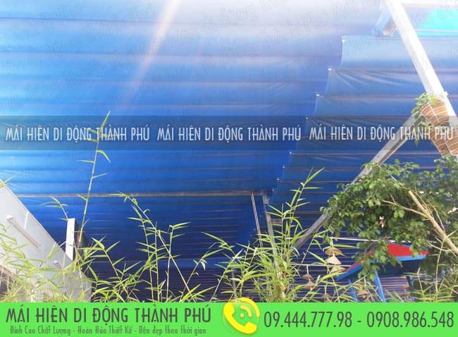 mai xep di dong nha hang 13 Mẫu mái xếp nhà hàng, mái xếp quán cafe mái xếp Thành Phú