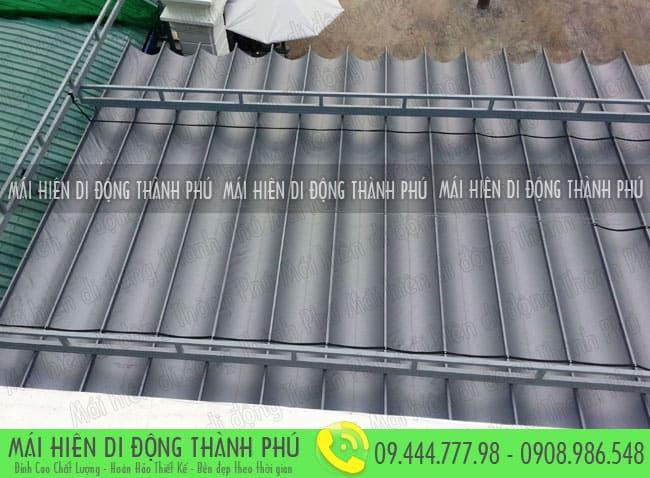 mai xep di dong nha hang 14 Mẫu mái xếp nhà hàng, mái xếp quán cafe mái xếp Thành Phú
