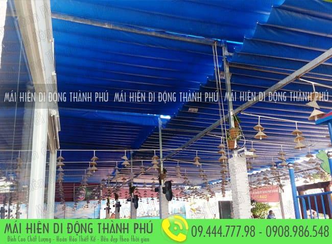 mai xep di dong nha hang 15 Mẫu mái xếp nhà hàng, mái xếp quán cafe mái xếp Thành Phú