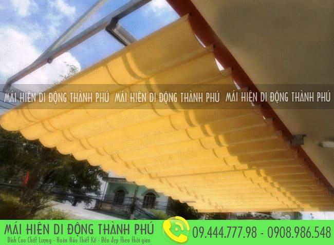 mai xep di dong nha hang 2 Mẫu mái xếp nhà hàng, mái xếp quán cafe mái xếp Thành Phú