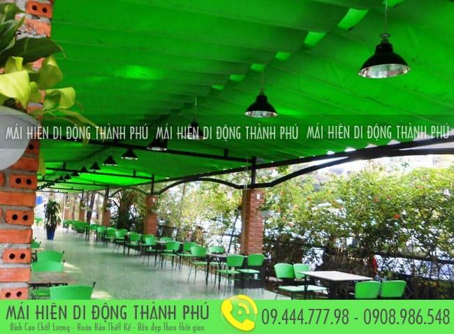 mai xep di dong nha hang 3 Mẫu mái xếp nhà hàng, mái xếp quán cafe mái xếp Thành Phú