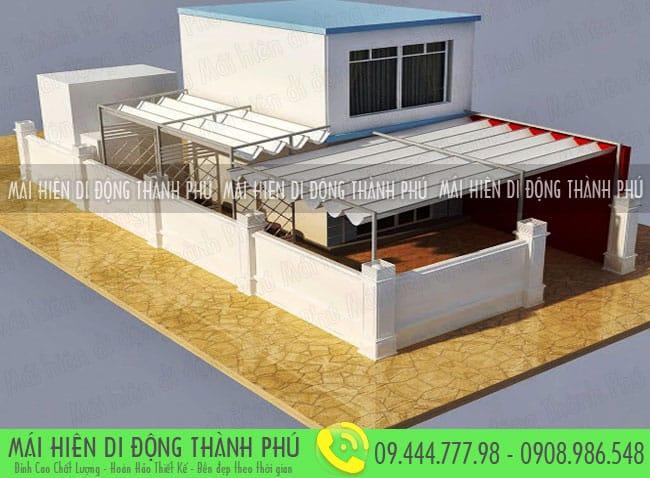mai xep di dong nha hang 4 Mẫu mái xếp nhà hàng, mái xếp quán cafe mái xếp Thành Phú