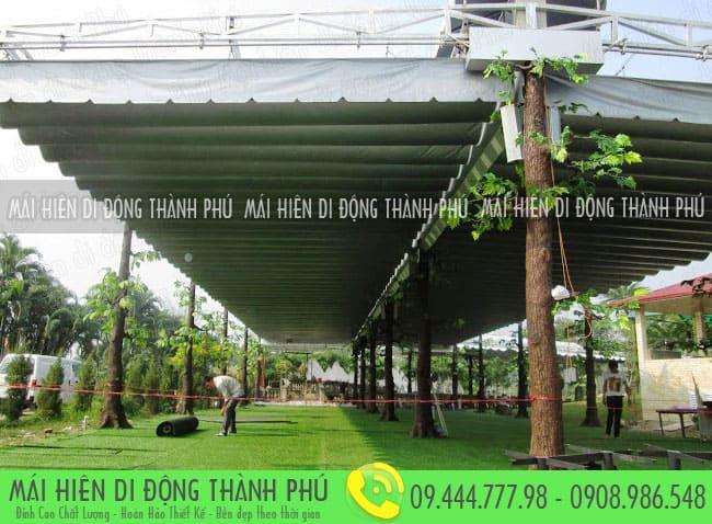 mai xep di dong nha hang 5 Mẫu mái xếp nhà hàng, mái xếp quán cafe mái xếp Thành Phú
