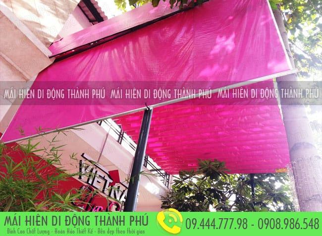 mai xep di dong nha hang 6 Mẫu mái xếp nhà hàng, mái xếp quán cafe mái xếp Thành Phú