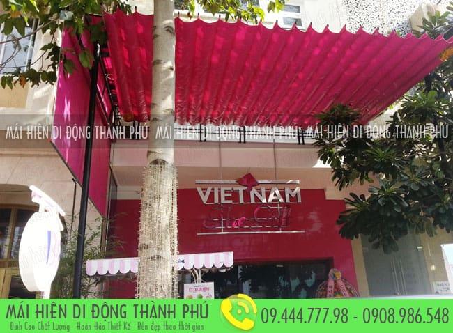 mai xep di dong nha hang 7 Mẫu mái xếp nhà hàng, mái xếp quán cafe mái xếp Thành Phú