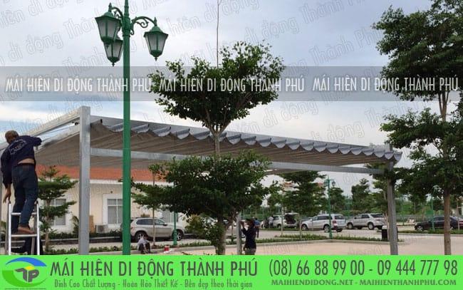 bat xep di dong 8 Mái xếp quán cafe giá rẻ đẹp do mái hiên Thành Phú thi công